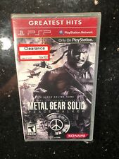 Metal Gear Solid Peace Walker Greatest Hits Sony PSP Portable NEW Sealed