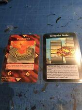 Steve Jackson Games Illuminati INWO CCG Limited Ed. Terrorist Nuke & PentagonNM