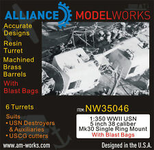 Alliance NW 35046 x 1/350 USN 5'' 38 caliber Mk 30 Single Ring With Blast Bag