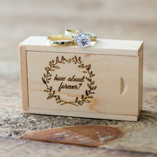Maple Wooden Box USB Flash Drive Gift Box Push-Pull Packing Box Ring jewelry Box