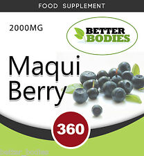 Maqui Berry 2000MG (paquete de 360), extracto de comprimidos antioxidante de gran alcance