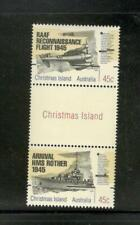 CHRISTMAS IS. - END WW II, 50TH ANN. - GUTTER PAIR #373 - MNH - YR 1995