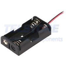 2 pcs B6217 Portabatterie AA, R6 Nr batt 2 Usc conduttori 150mm TELSTORE