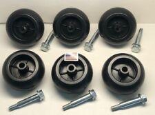 6 BAD BOY 15172 Deck Wheels + BOLT 018-0010-00, 022-1000-00, 022-5234-98