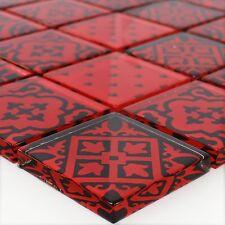 MUSTER Glasmosaik Zementoptik Mosaikfliesen Rot
