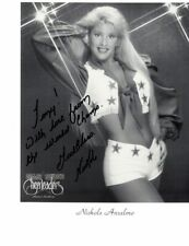NIKOLE ANSELMO - DALLAS COWBOYS CHEERLEADERS SIGNED 8x10 B&W PHOTO