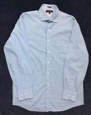 Preowned Men's TOMMY HILFIGER Blue Gingham Shirt Size 16