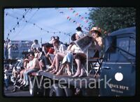 1963 kodachrome Photo slide Porltand OR parade  crowd watching