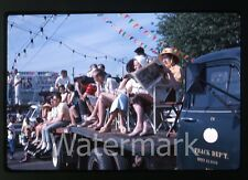 1963 kodachrome Photo slide Porltand OR parade  crowd watching
