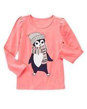 NWT Gymboree Girls Polar Pink Penguin Sparkle LS Top Size 5 & 6