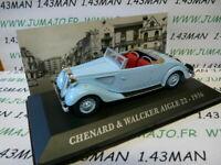 AUT36M 1/43 IXO altaya Voitures d'autrefois : CHENARD & WALCKER Aigle 22 1936