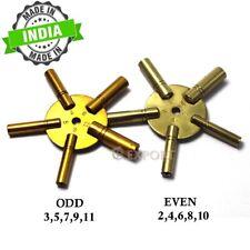 Clock Winder Winding Set of 2 Key BRASS Even & Odd Numbers Universal Mantle