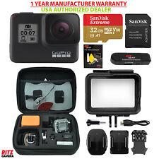 GoPro USA Hero 7 Black Camera + Sandisk 32GB MicroSD + Case for GoPro (CHDHX701)