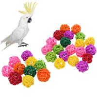 10/20pcs Pet Bird Chewing Rattan Ball Parrot Funny Toys Pet Supplies Cage Decor