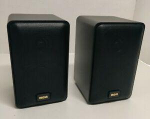 RCA 40-5000 Die Cast Mini Bookshelf Speakers Pair