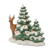 Goebel Im Winterwald Reh ANGEBOT Weihnachten Tannenbaum mit LED Licht NEU
