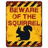 Beware Of The Squirrel   Vintage Metal Garden Yard Warning Sign   Caution Sign
