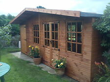 Wooden 20 x 10 Chalet Summerhouse/Shed Combination T&G Timber cladding & Floor