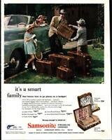 1947 Samsonite Luggage Family Vacation Suitcase Color Vintage Print Ad 608