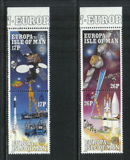 Isle of Man 1991 Europa/Space-Attractive Science Topical (468-71) Mnh