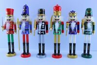 """NEW 6 Christmas German Style Nutcracker Soldiers Décor Not Ornaments Approx 9"""" H"""