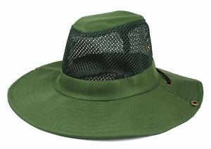 Mens Bucket Boonie Hat Fishing Sun Visor Brim Cool Mesh Summer Hiking Garden Cap
