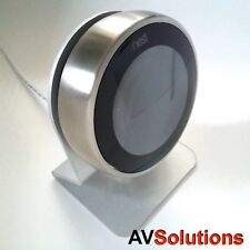 Beautiful 3mm Metal Stand for Nest Thermostat (2nd/3rd Gen) Gun Metal Silver-S1