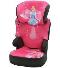 TT Disney Princess Groups 2-3 Black High Booster Forward Facing 3 Point Car Seat