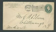 1896 NY Royal Banking Powder Co W/Flag Cancel Roughly Open In Back