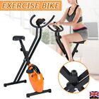 Heavy Duty Exercise Bike Folding Fitness Cardio Machine Workout Bicycle NEW UK