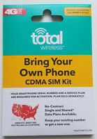 Total Wireless SIM card kit•Verizon LG G4 G5, LG G6, LG G7, LG V20 V30, K20 V