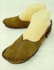 Clarks Originals Womens Shoes US 6.5 M Brown Leather Crepe Sole Slingbacks 4869