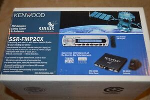 Kenwood KCA-R70FM + KTC-SR901 + CX-SR10 Sirius Satellite Radio FM Adapter KIT