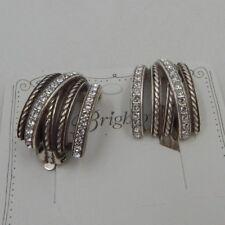 Brighton NEPTUNE'S RING'S Swarovski Crystal Earrings  NWT