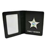 Florida Deputy Sheriff's Family Member Mini Badge License ID Card Holder Wallet