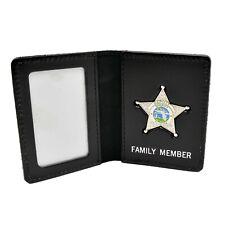 Florida Deputy Sheriff's Family Member Mini Badge License ID Card Holder Wallet