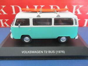 Die cast 1/43 Modellino Furgone Van Volkswagen T2 Bus Camper con Surf 1976