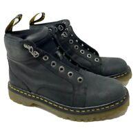 Men's Dr. Marten's Nashville Black Leather Boots Shoes size 8 Mens size 9 Ladies
