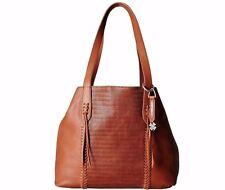NWT $238 Lucky Brand Noah Leather Tote Brown Handbag Brandy
