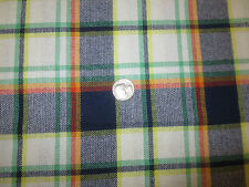 "980. WOVEN PLAID Apparel or Craft Cotton or Cotton Blend Fabric - 54"" x 1 Yd."