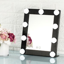 Black Led Bulb Vanity Lighted Hollywood Makeup with Dimmer Stage Beauty Mirror
