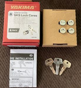 Yakima SKS Lock Cores 4 Pack #A148 W/ Keys + Control Key -Brand New In Box