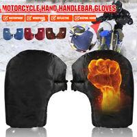 Motorcycle Bike Reflective Thermal Handlebar Grip Muffs Gloves Mitts Plush