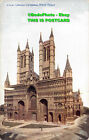 R438370 C. 4191. Lincoln Cathedral. West Front. Celesque Series. Photochrom