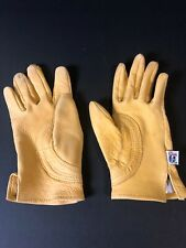 Justin Leather Work Gloves Child's Large Western Cowboy Deer Skin Used