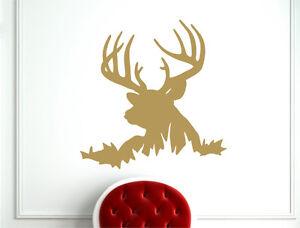 Deer head wall sticker | Stag wall decal | Hunting wall art | Deer wall sticker