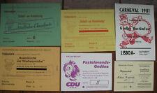 6 Eintrittskarten Kölner Karneval 1956-1981 Köln