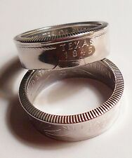 Silver State Quarters Rings Sizes 5-13 90% Silver Coins Double side