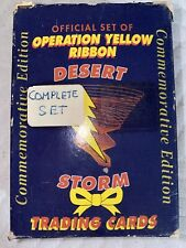 Storm Trading Cards Official set of Operation Yellow Ribbon Desert Storm 1991