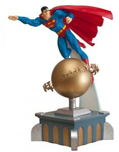 DC Direct Superman Deluxe Statue Motorized  Daily Planet Base Rotates NIB Sealed